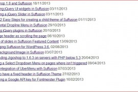 Adding Publishing Dates to Suffusion List Layout